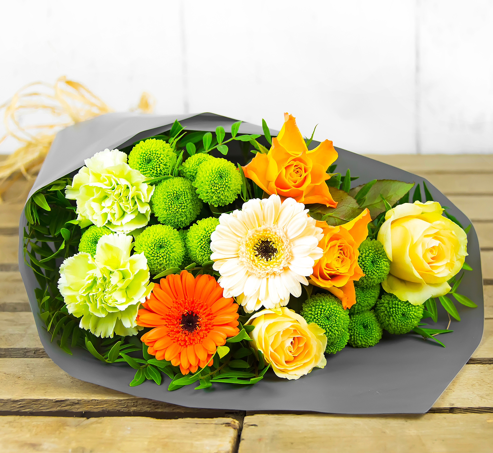 Amber Attraction – Free Delivery - Roses, Germinis and Carnations – Flower Delivery by 123 Flowers