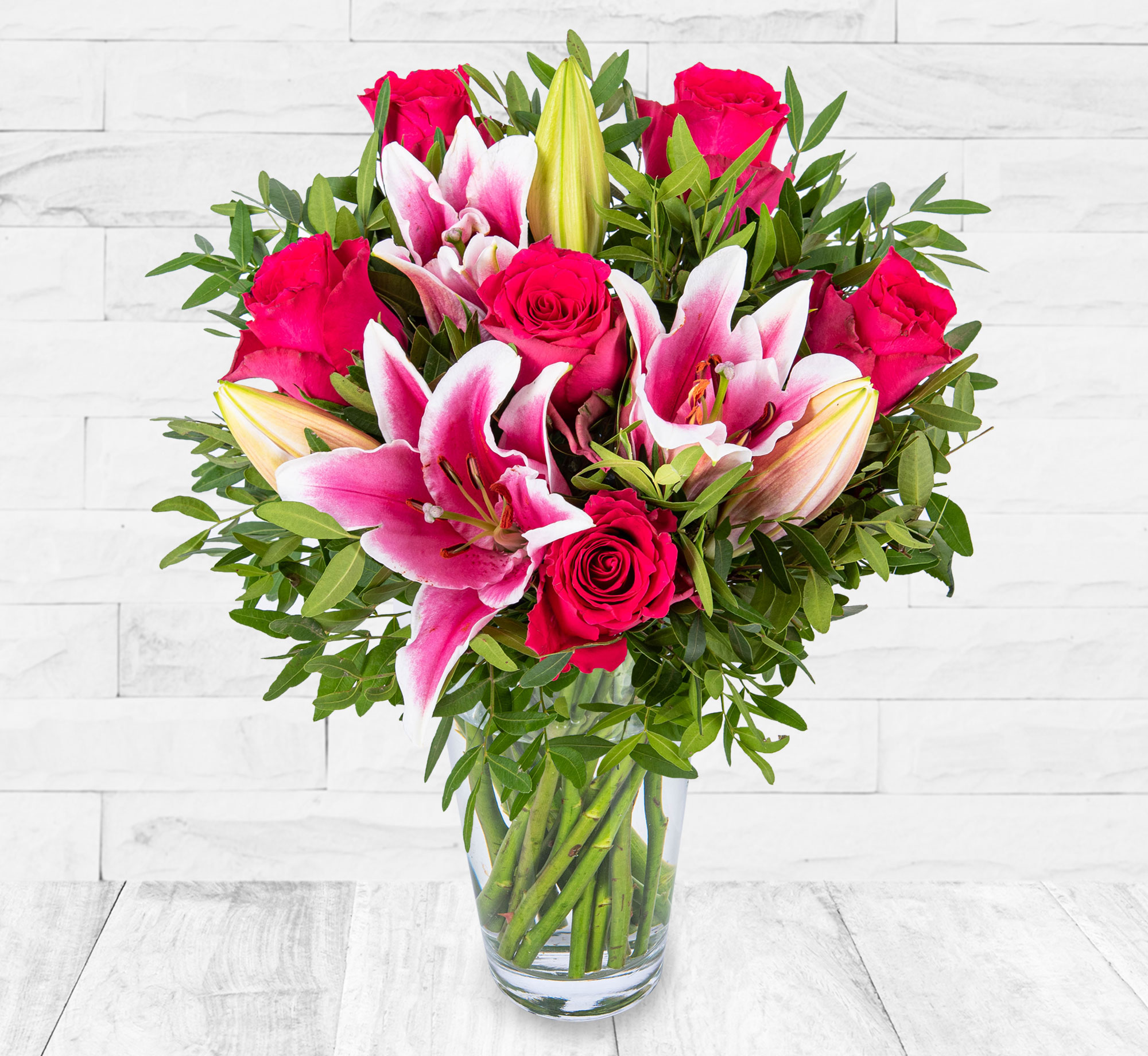 Roses and Lilies – Flowers with Free Delivery - Flower Delivery by 123 Flowers