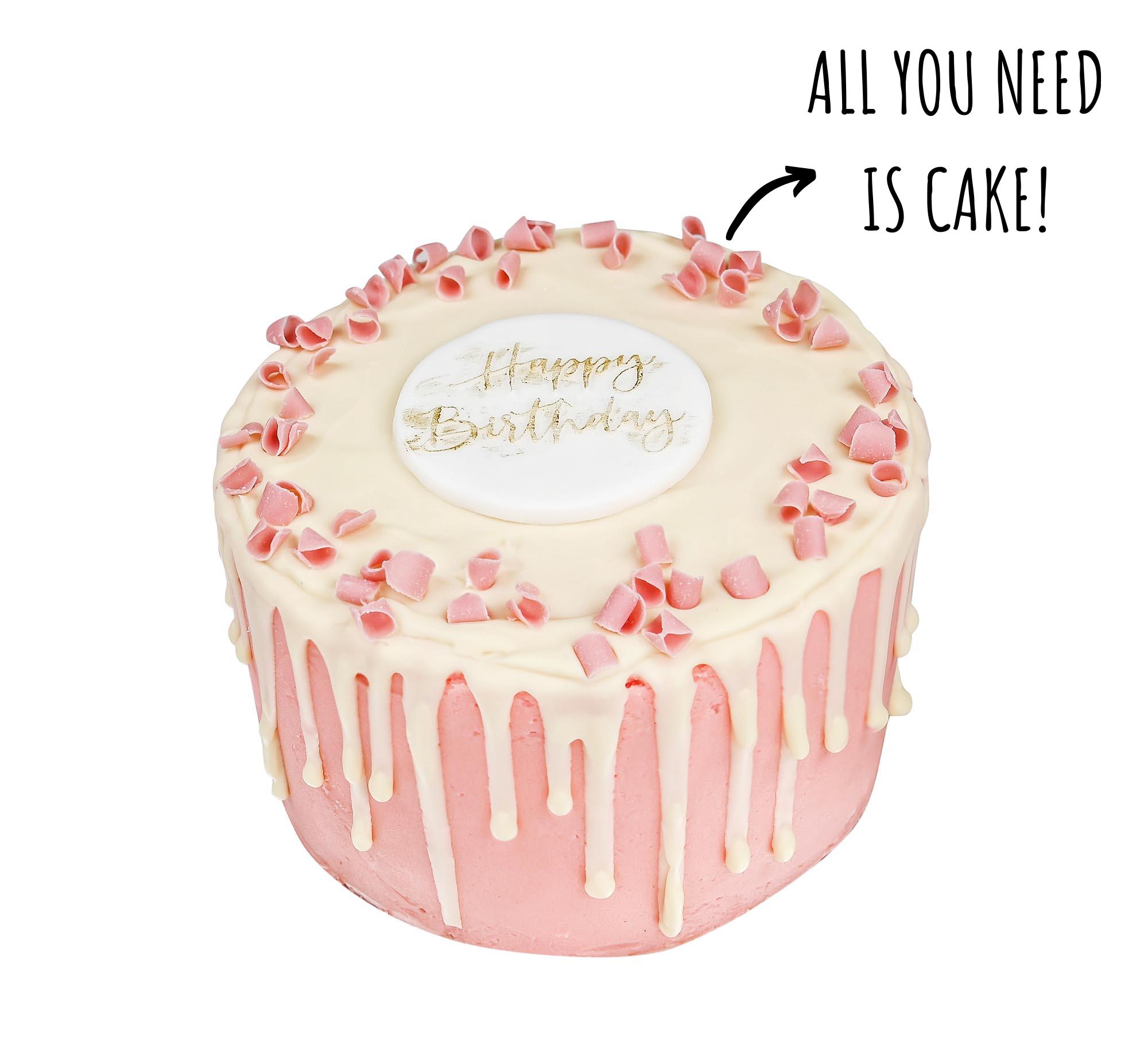Blushing Pink Birthday Cake