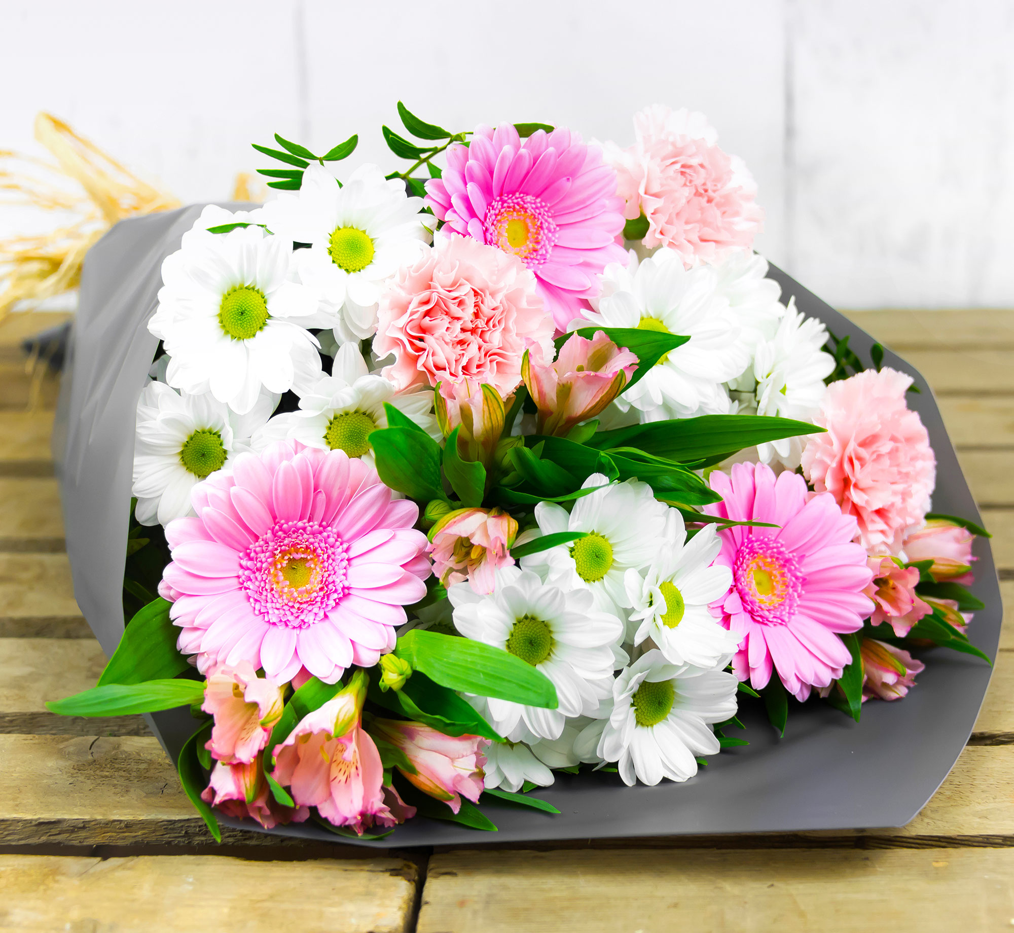 Elegant Enhancement – Free Delivery - Germinis and Chrysanthemums - Flower Delivery by 123 Flowers – Birthday Flowers