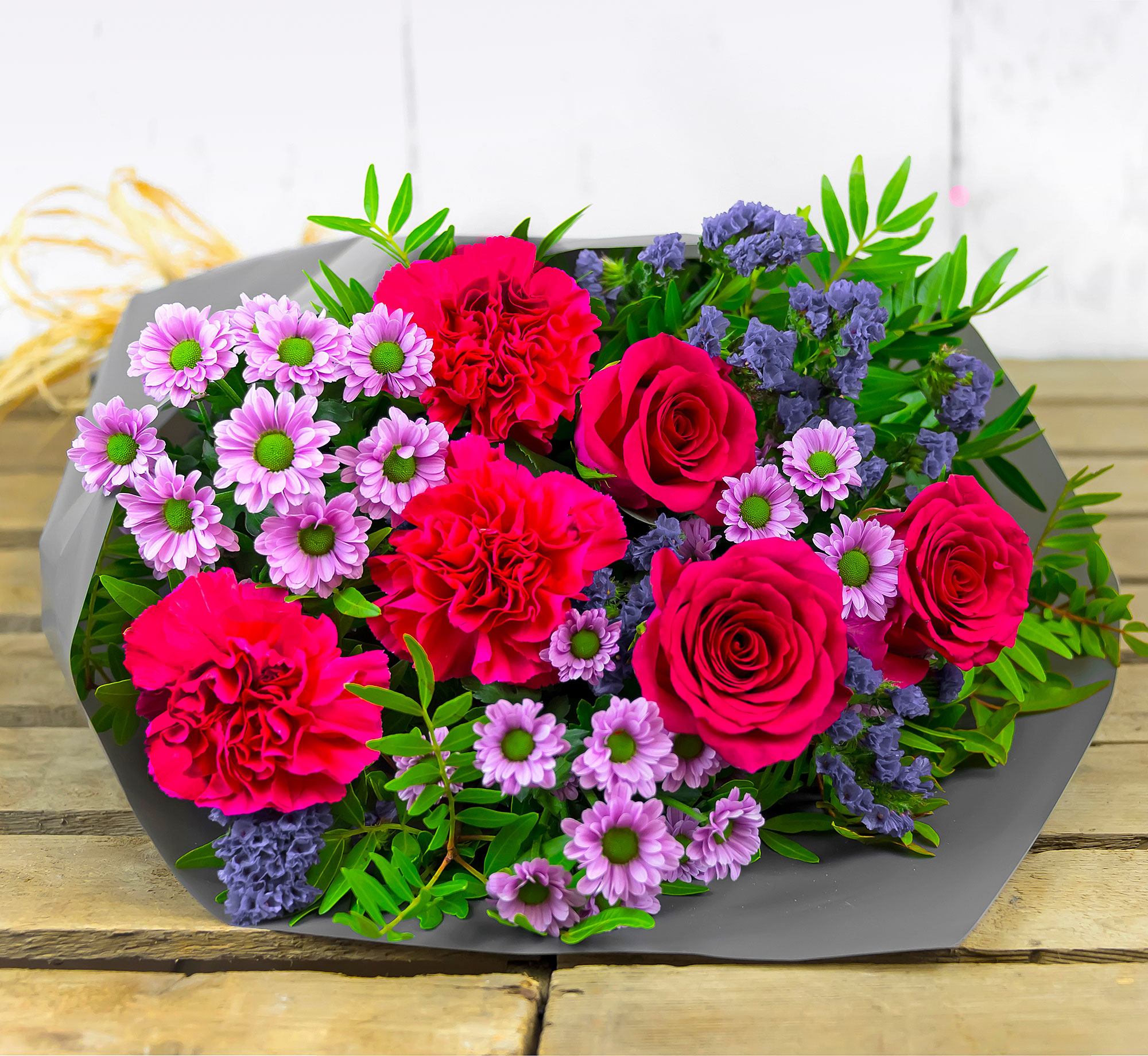 Best Wishes – Flowers with Free Delivery - Zantini Chrysanthemums, Roses & Carnations – Birthday Flowers