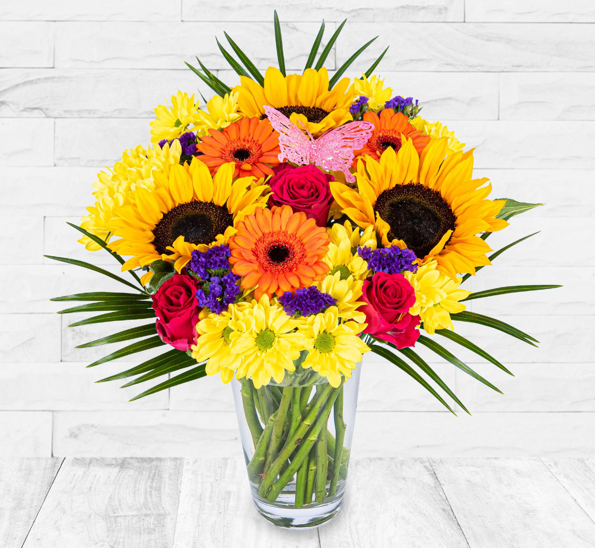 British Sunflowers Bouquet