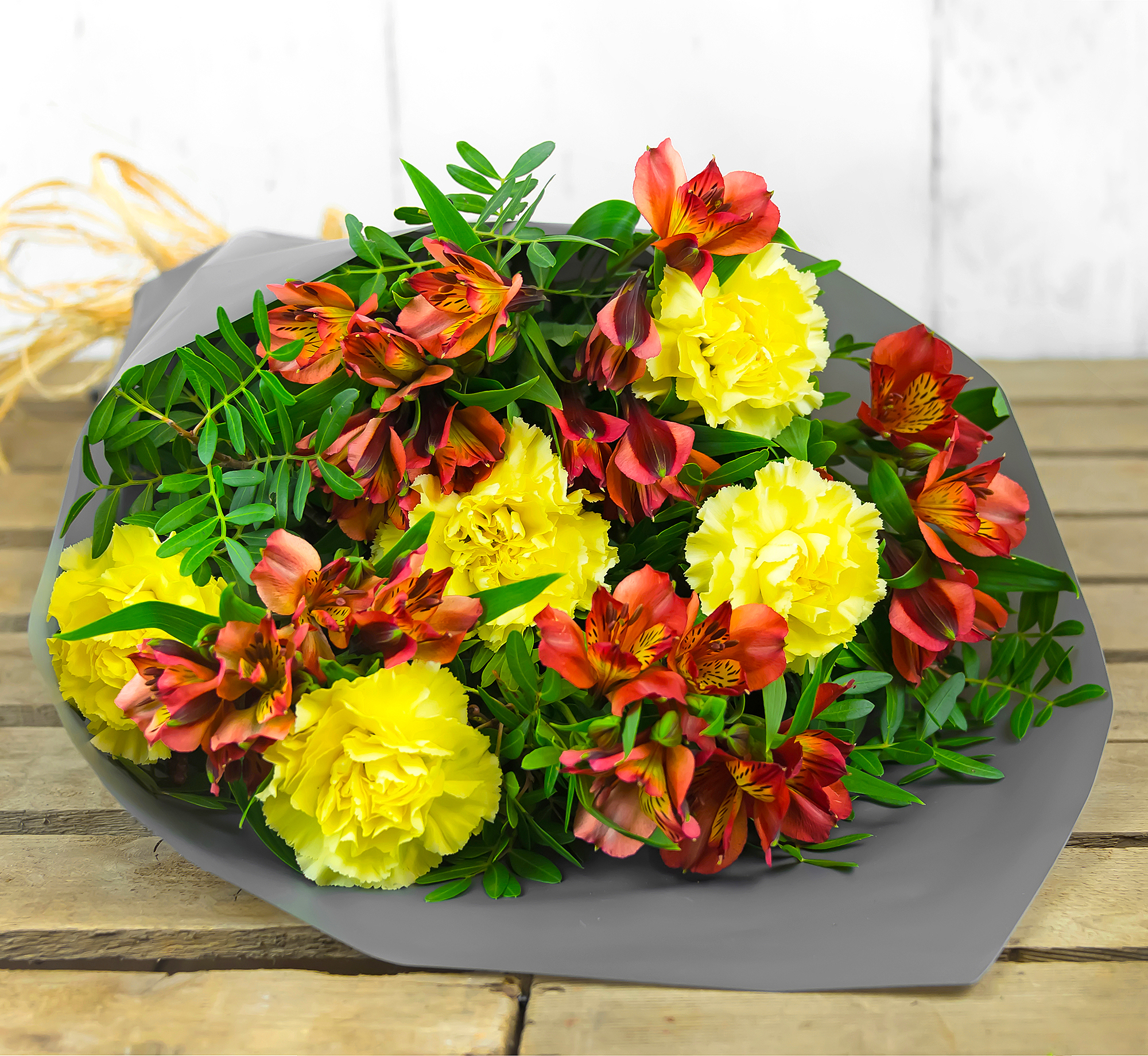 Beautiful Blossoms – Flowers with Free Delivery - Peruvian Lilies and Carnations – Flower Delivery by 123 Flowers
